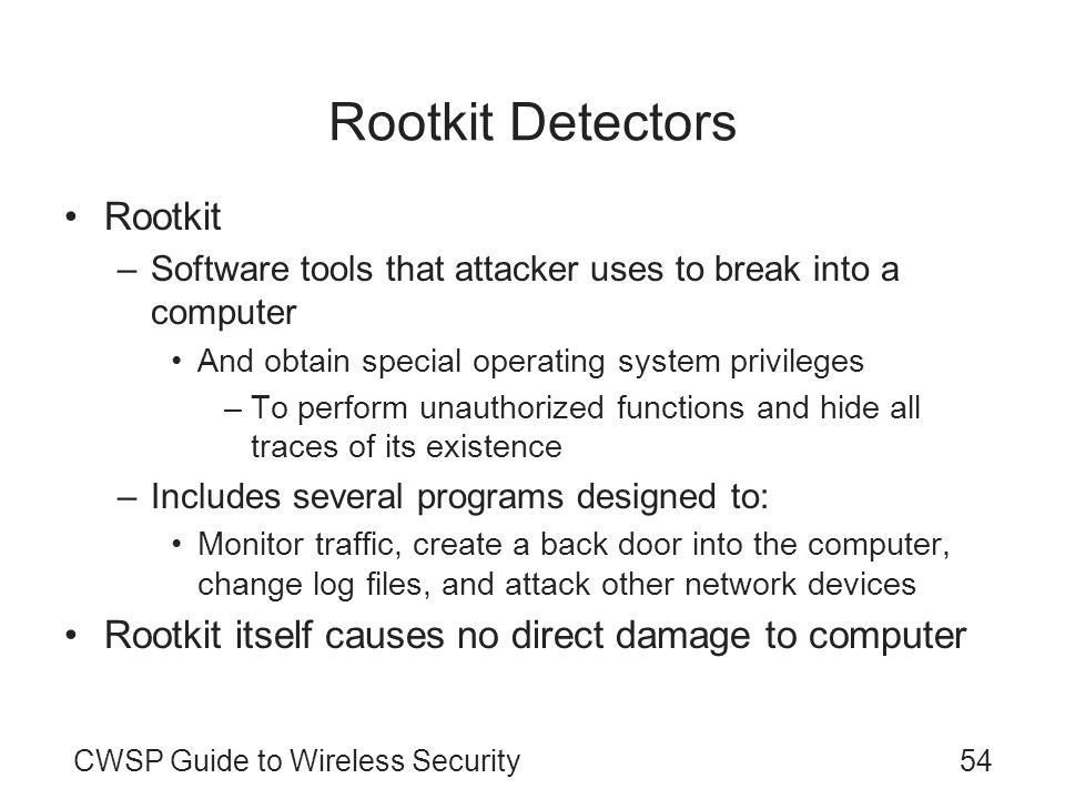 Rootkit Detectors Rootkit