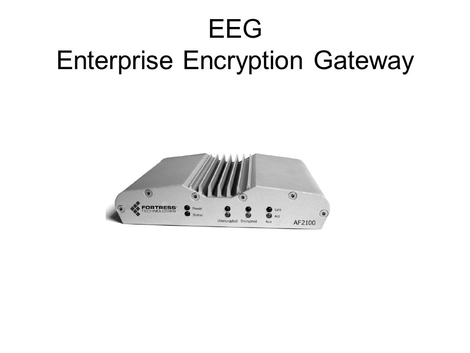 EEG Enterprise Encryption Gateway
