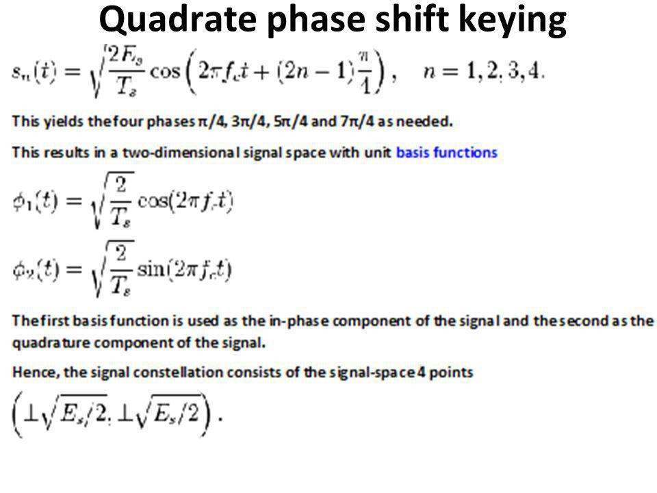 Quadrate phase shift keying