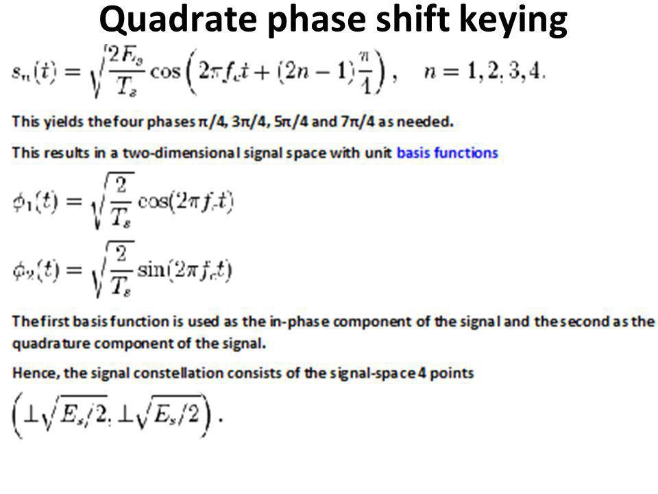 Quadrate phase shift keying