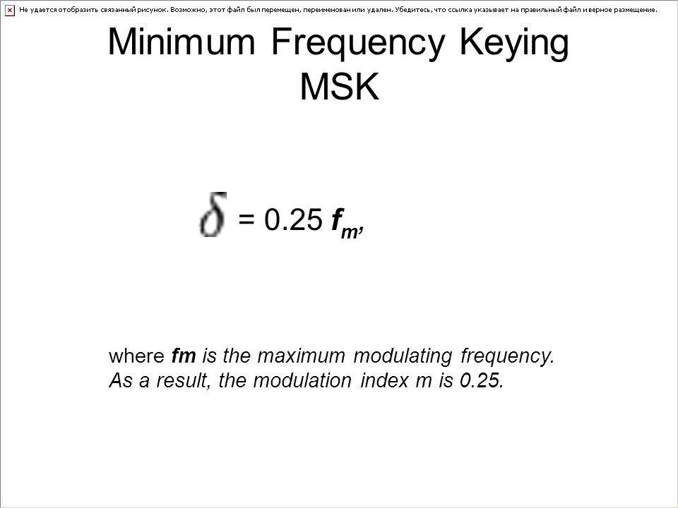 Minimum Frequency Keying MSK