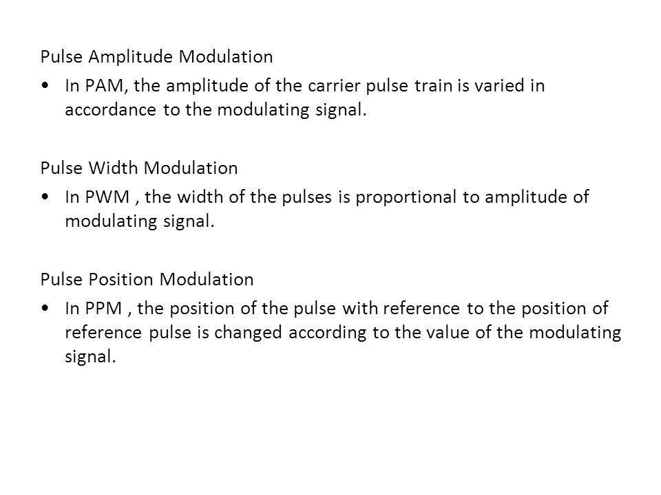 Pulse Amplitude Modulation