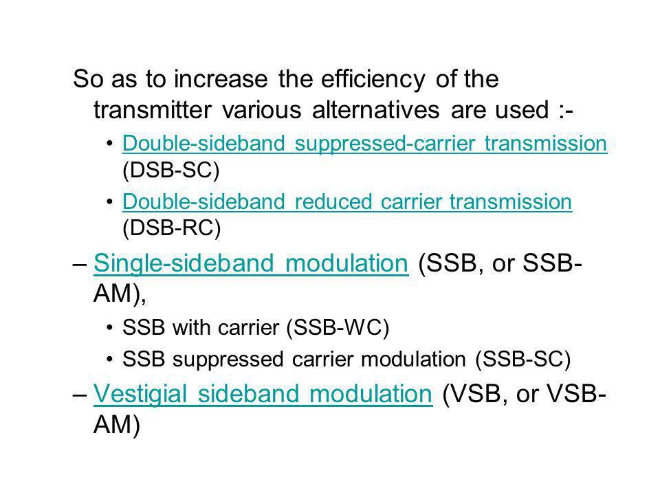 Single-sideband modulation (SSB, or SSB-AM),