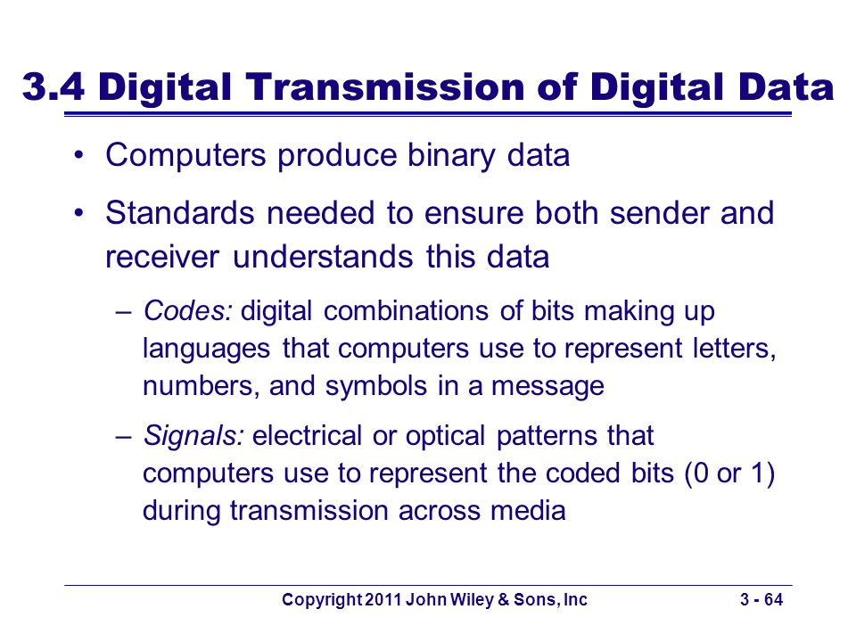3.4 Digital Transmission of Digital Data