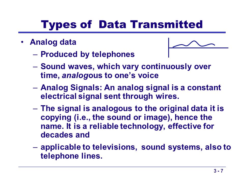 Types of Data Transmitted