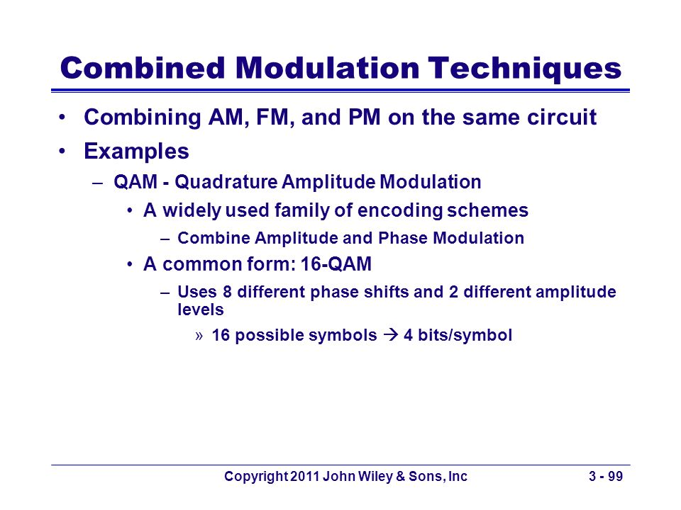 Combined Modulation Techniques
