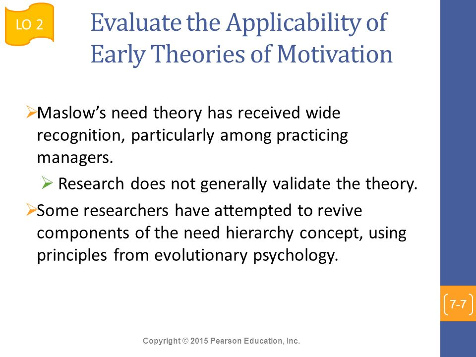 early theories of motivation maslow Determination theory as well general and academic motivation the work of   highlights the importance of early experiences on individual development and.