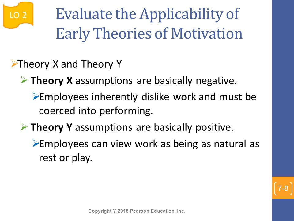 evaluating motivation theories and their implications Including theories of motivation and of the individual  cope with stressful  situations, with focus on settings related to caregiving and its implications apart  from.