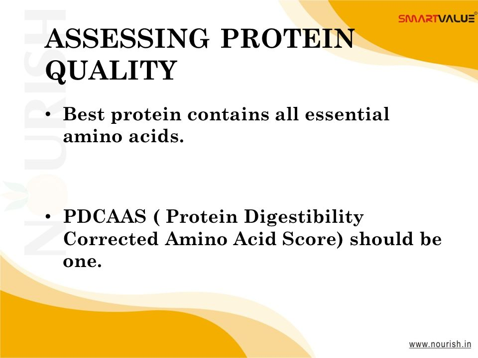 ASSESSING PROTEIN QUALITY