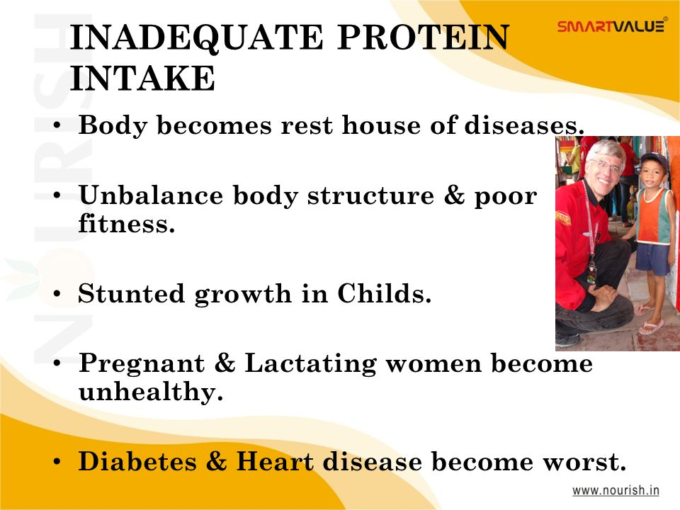 INADEQUATE PROTEIN INTAKE