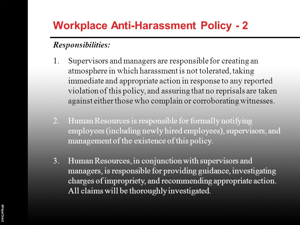 Workplace Anti-Harassment Policy - 2