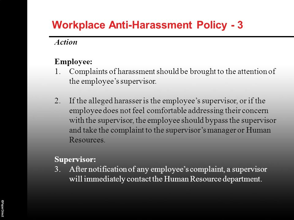 Workplace Anti-Harassment Policy - 3