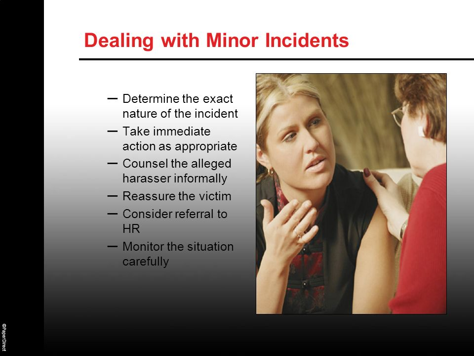 Dealing with Minor Incidents