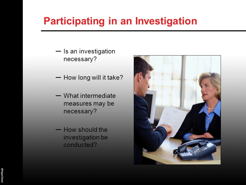 Participating in an Investigation
