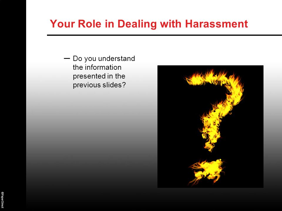 Your Role in Dealing with Harassment