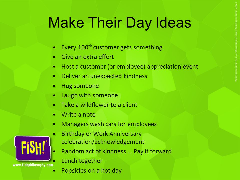 Make Their Day Ideas Every 100th customer gets something