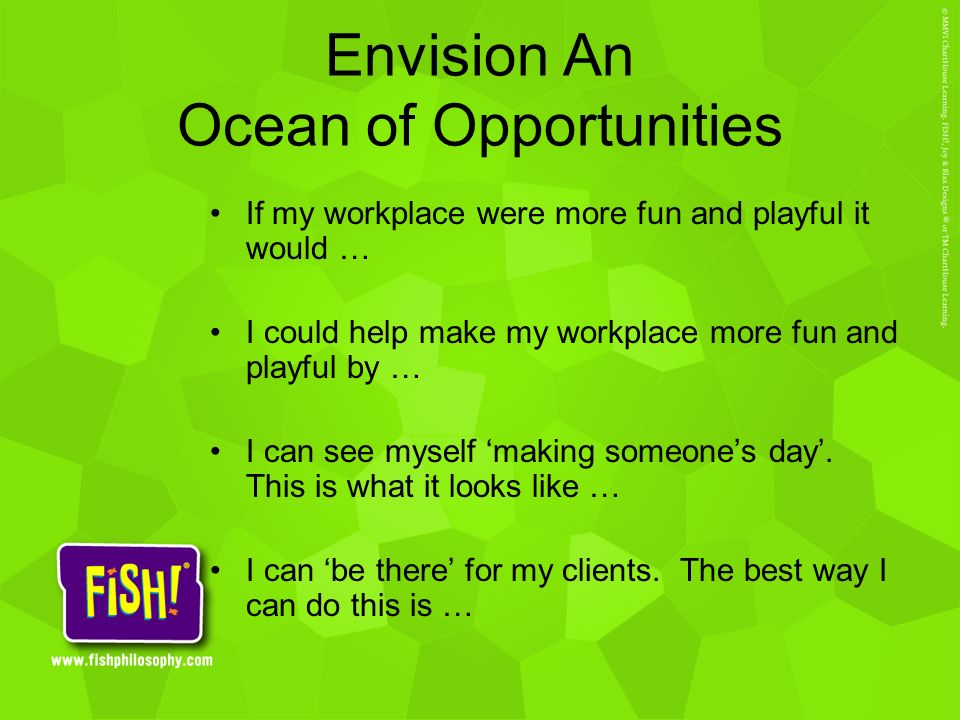 Envision An Ocean of Opportunities