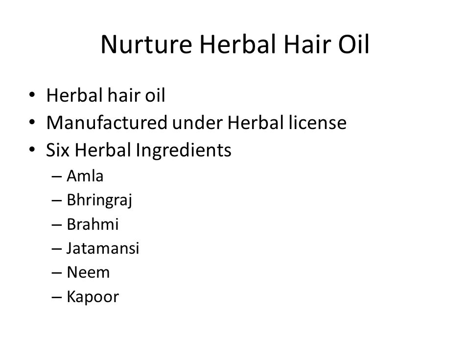 Nurture Herbal Hair Oil
