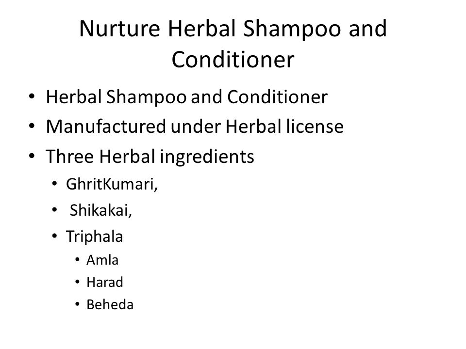 Nurture Herbal Shampoo and Conditioner