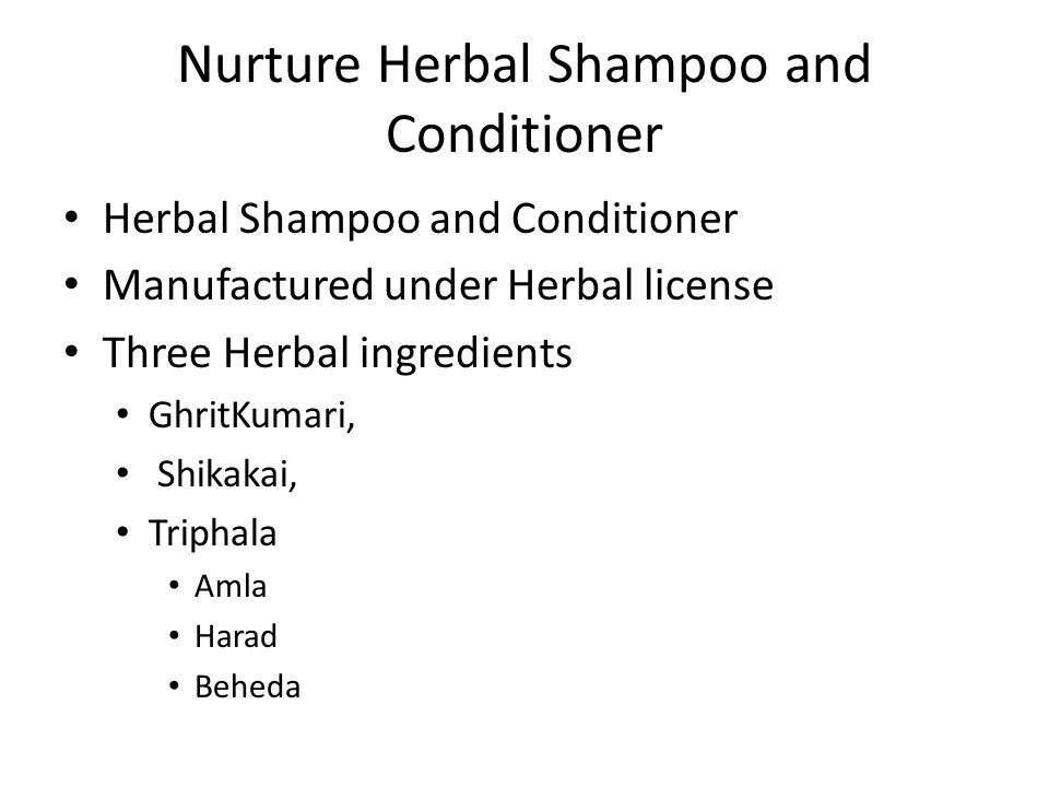 Nurture Herbal Shampoo and Conditioner
