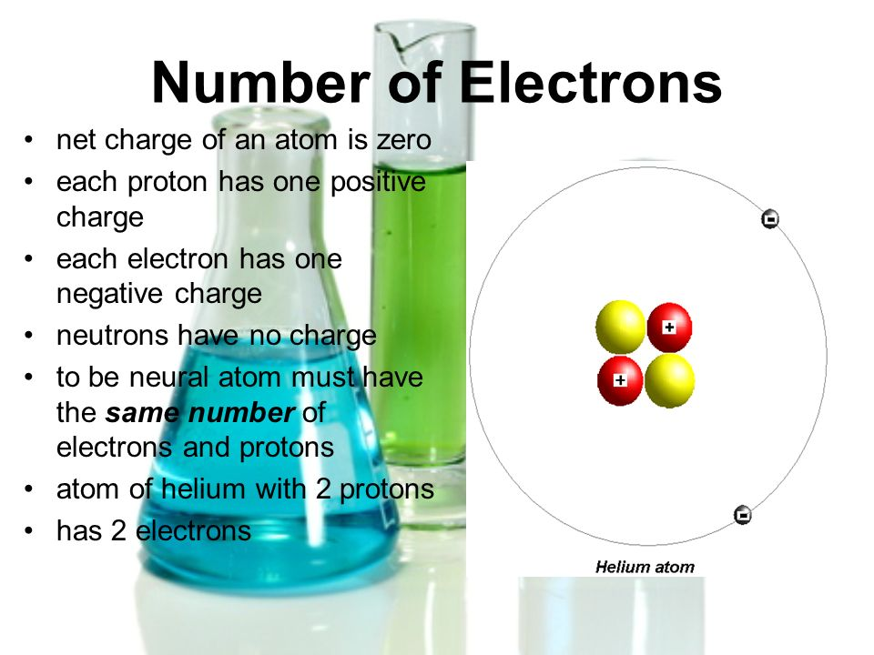 Number of Electrons net charge of an atom is zero