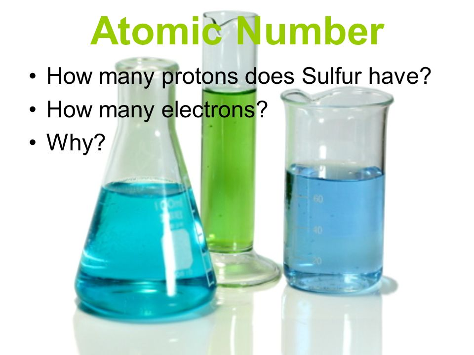 Atomic Number How many protons does Sulfur have How many electrons