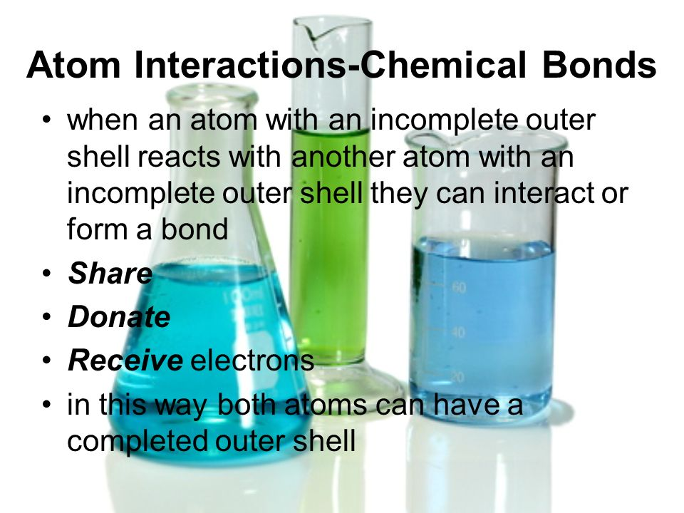 Atom Interactions-Chemical Bonds