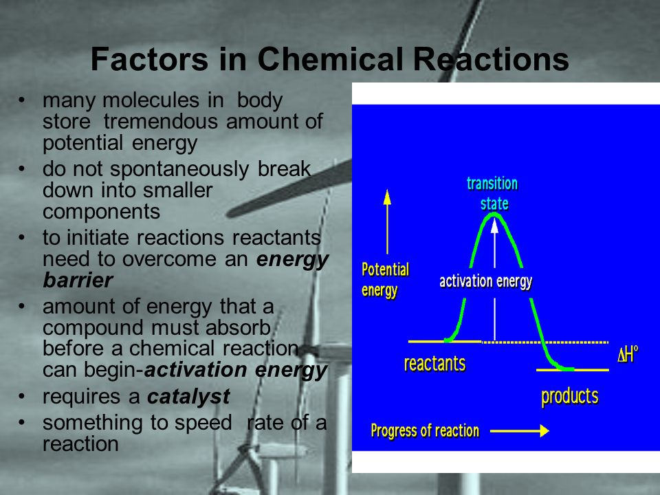 Factors in Chemical Reactions
