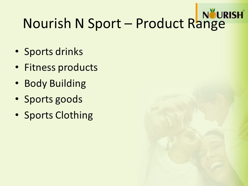 Nourish N Sport – Product Range
