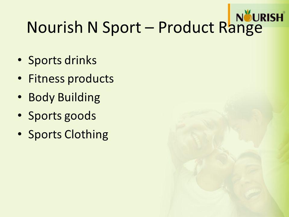 Nourish N Sport – Product Range