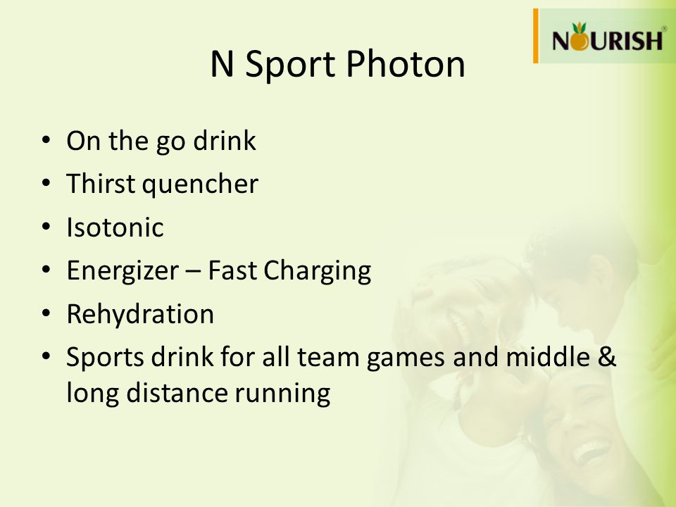 N Sport Photon On the go drink Thirst quencher Isotonic