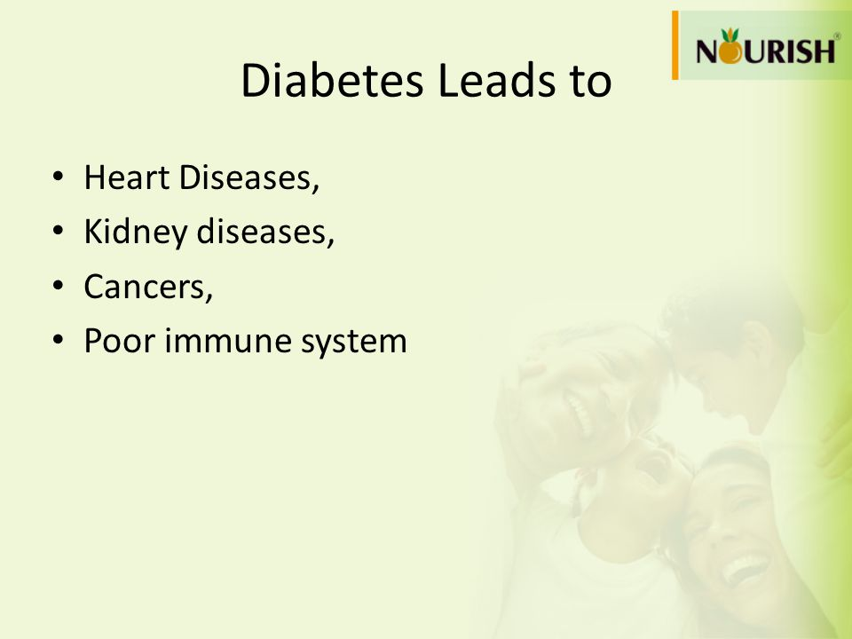Diabetes Leads to Heart Diseases, Kidney diseases, Cancers,