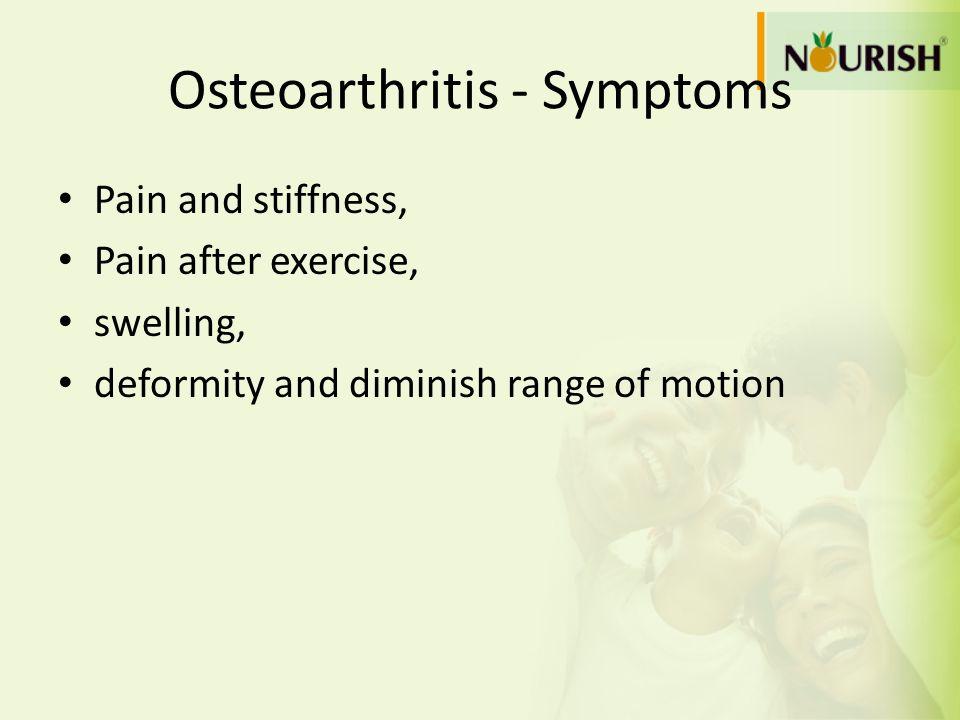 Osteoarthritis - Symptoms