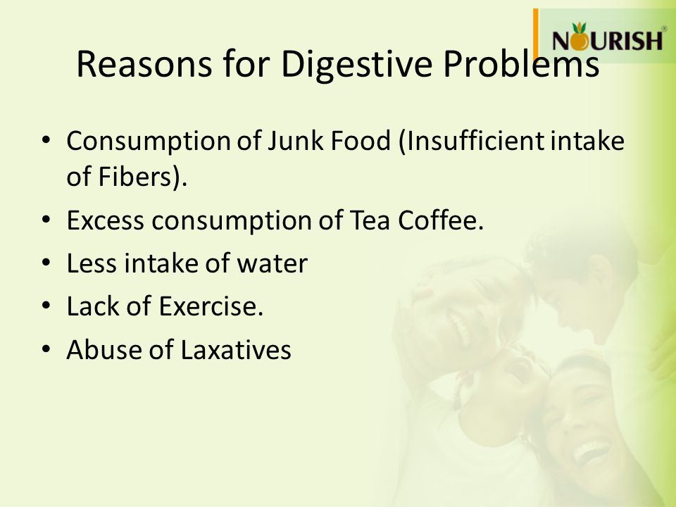 Reasons for Digestive Problems