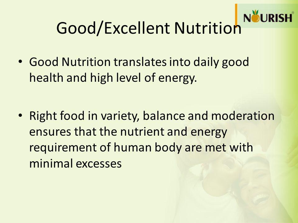 Good/Excellent Nutrition