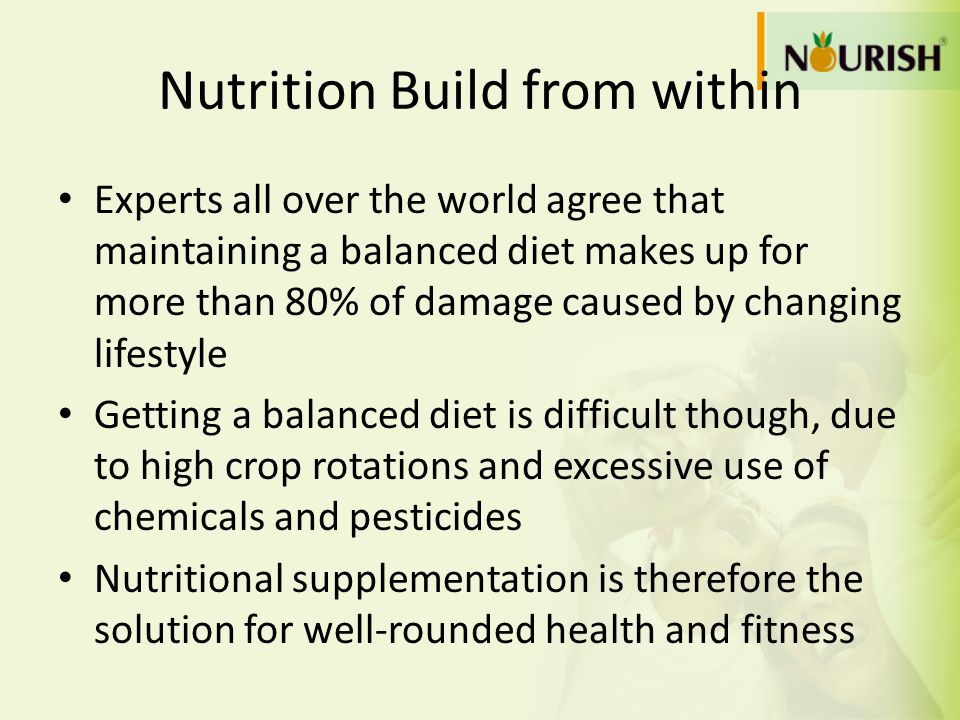 Nutrition Build from within