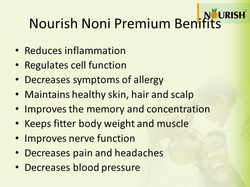 Nourish Noni Premium Benifits