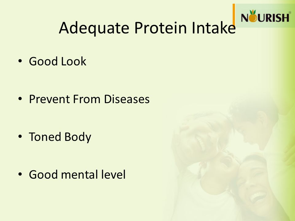 Adequate Protein Intake