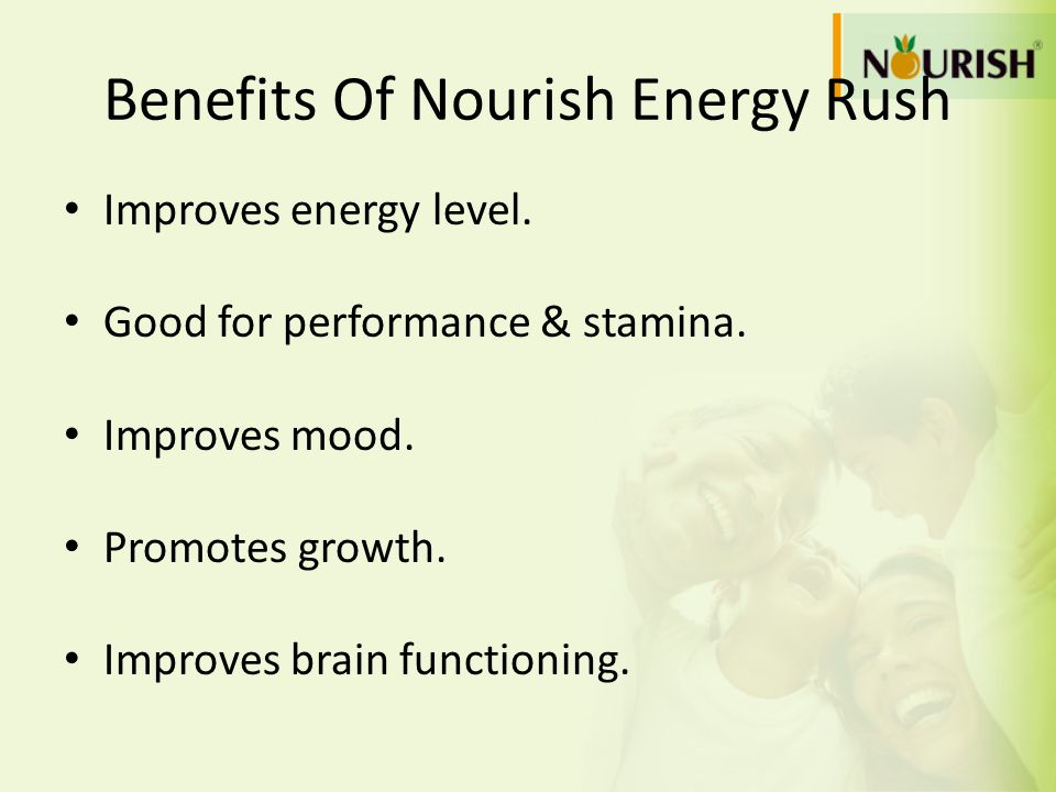 Benefits Of Nourish Energy Rush
