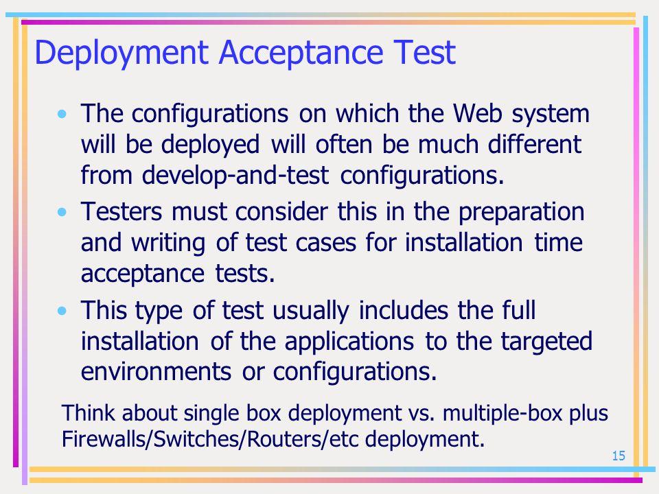 Deployment Acceptance Test