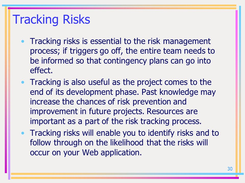 Tracking Risks