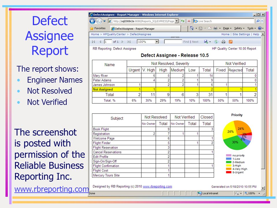Defect Assignee Report