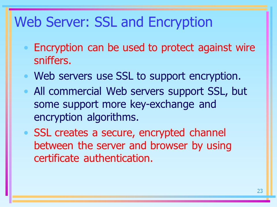 Web Server: SSL and Encryption