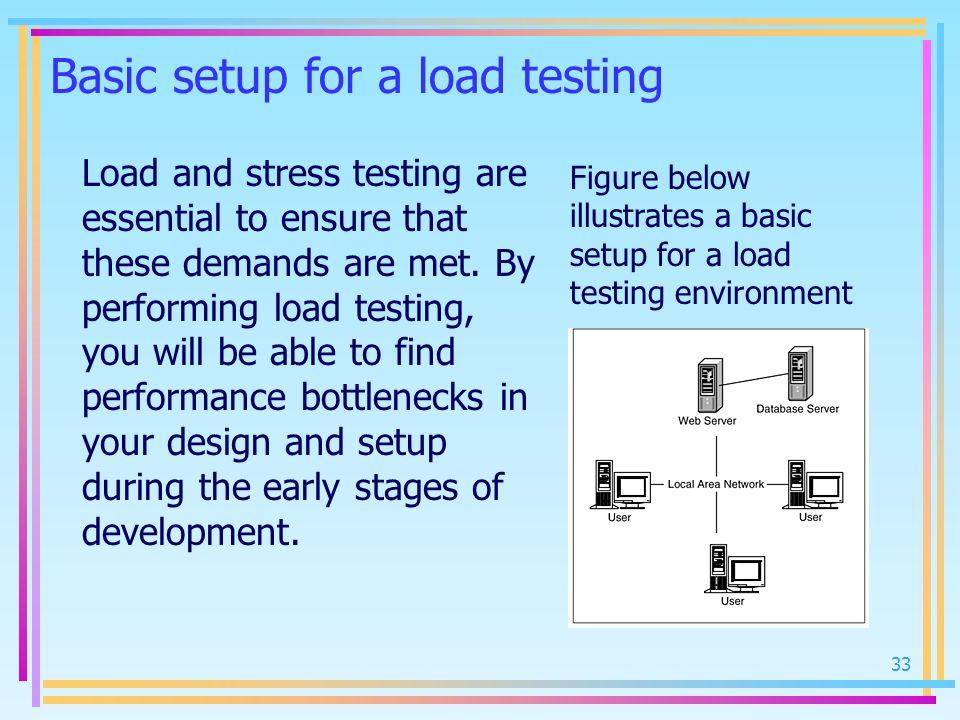 Basic setup for a load testing
