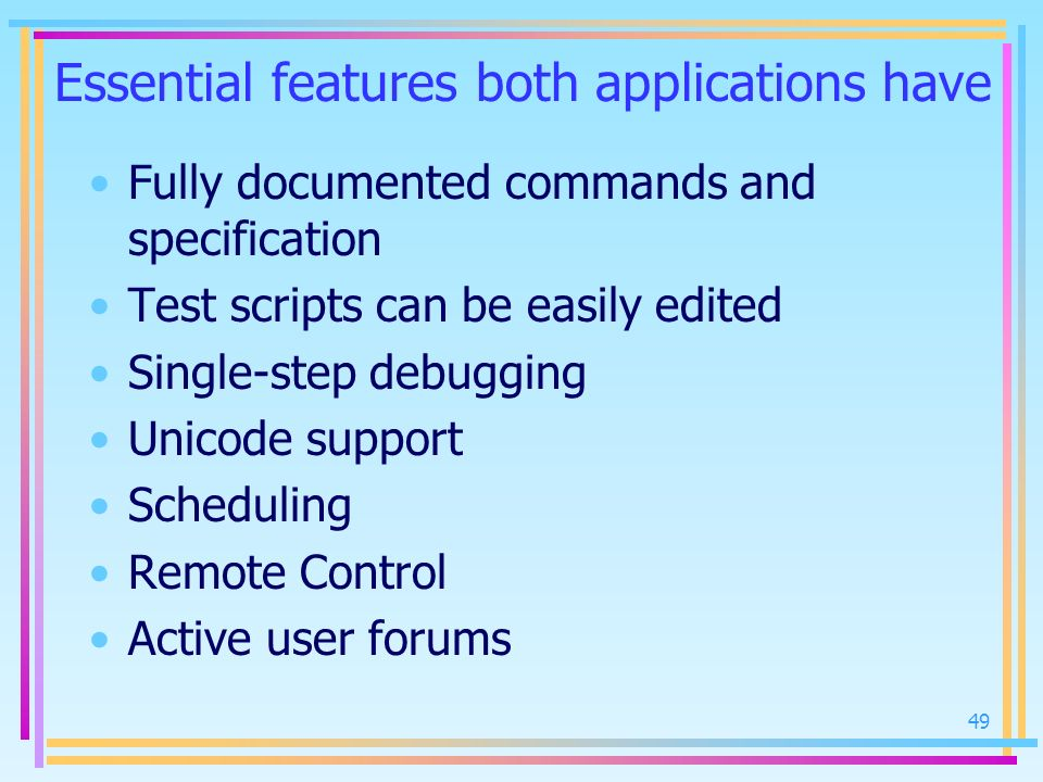 Essential features both applications have