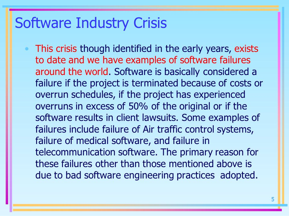 Software Industry Crisis