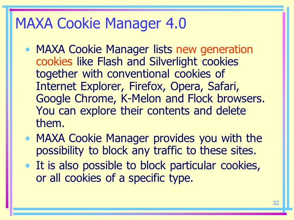 MAXA Cookie Manager 4.0