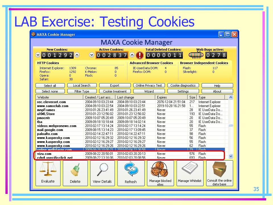 LAB Exercise: Testing Cookies