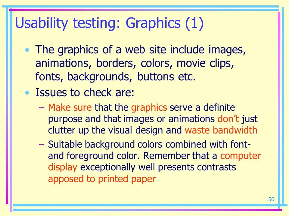 Usability testing: Graphics (1)