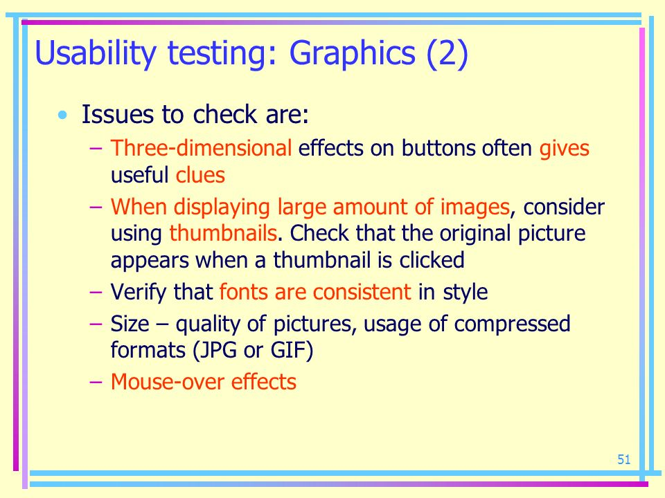 Usability testing: Graphics (2)